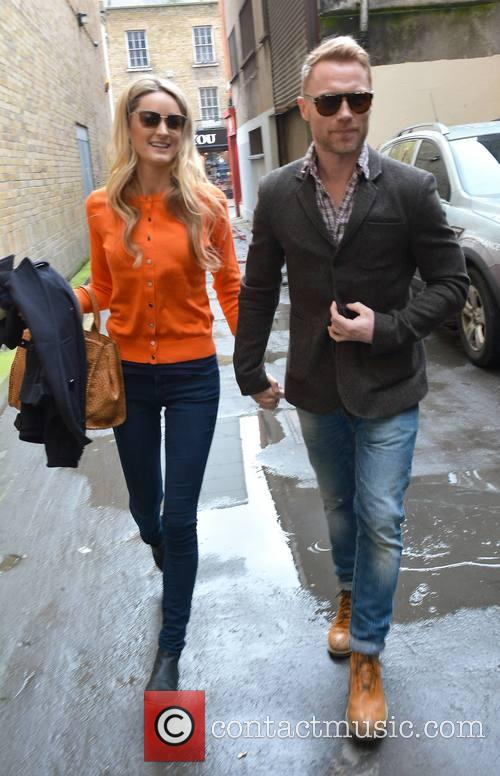 Ronan Keating and Storm Uechtritz leave a Skechers...