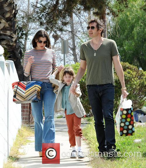 Milla Jovovich and family go to a birthday...