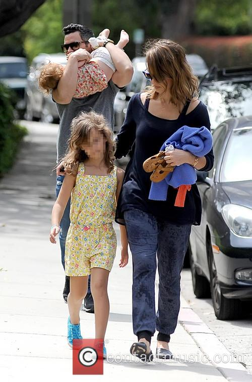 Jessica Alba, Cash Warren, Haven Warren and Honor Warren 6