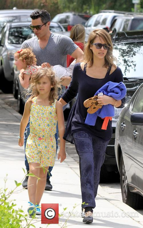 Jessica Alba, Cash Warren, Haven Warren, Honor Warren
