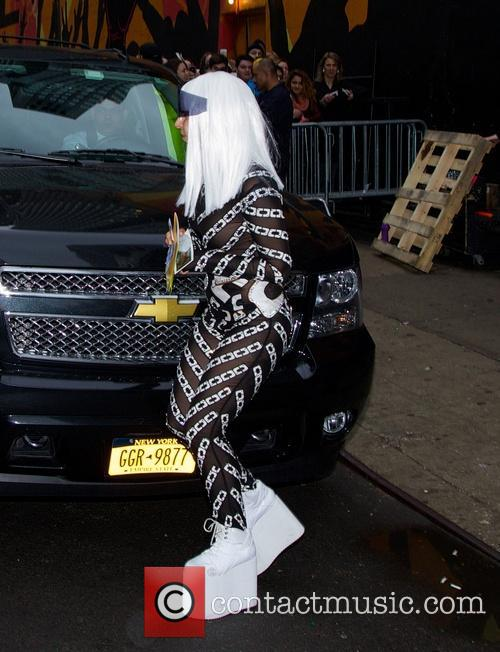Lady Gaga seen leaving Roseland