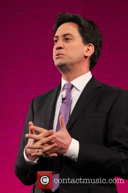 Ed Miliband gives a speech at the Welsh...