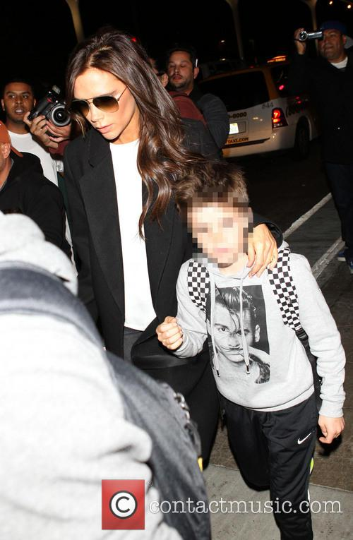Victoria Beckham and Cruz Beckham 1