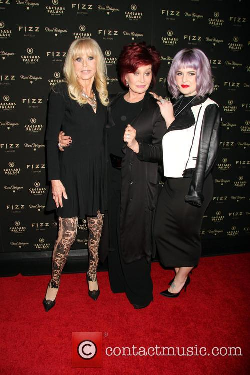Britt Ekland, Sharon Osbourne and Kelly Osbourne