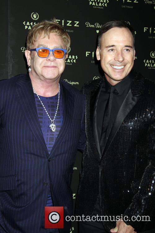 Elton John and David Furnish in Las Vegas