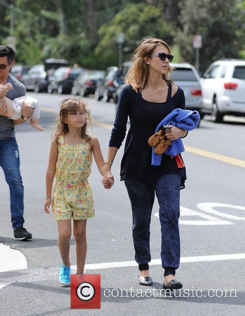 Jessica Alba, Cash Warren, Honor-Marie Warren and Haven Warren 4