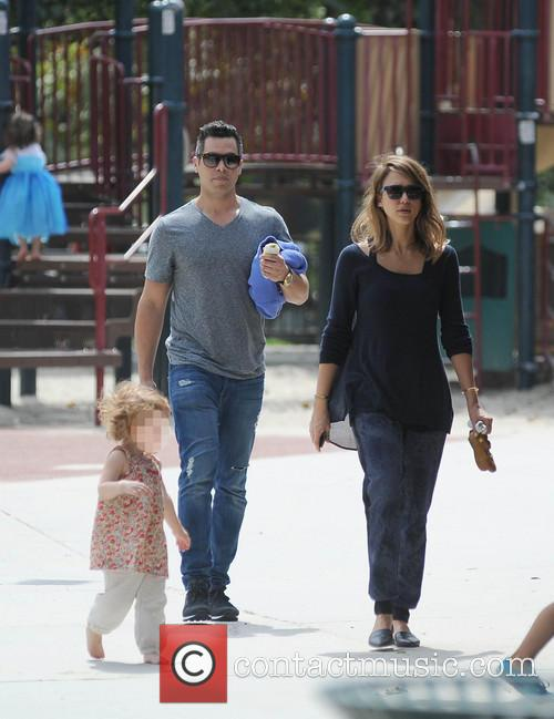 Jessica Alba, Cash Warren, Honor-Marie Warren and Haven Warren 11