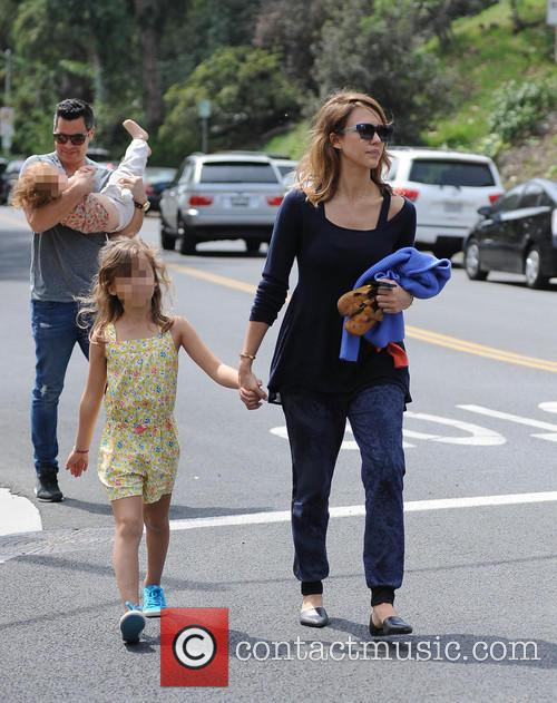 Jessica Alba, Cash Warren, Honor-Marie Warren and Haven Warren 16