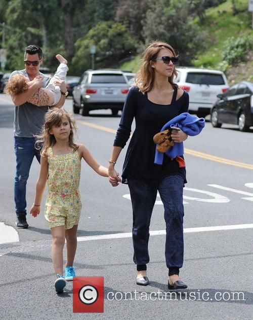 Jessica Alba, Cash Warren, Honor-Marie Warren and Haven Warren 29