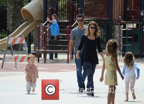 Jessica Alba, Cash Warren, Honor-Marie Warren and Haven Warren 48