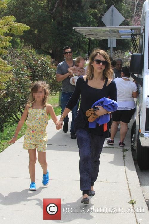 Jessica Alba, Cash Warren, Honor-Marie Warren and Haven Warren 65