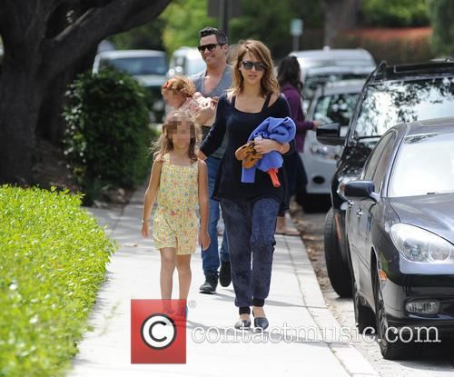 Jessica Alba, Cash Warren, Honor-marie Warren and Haven Warren 1