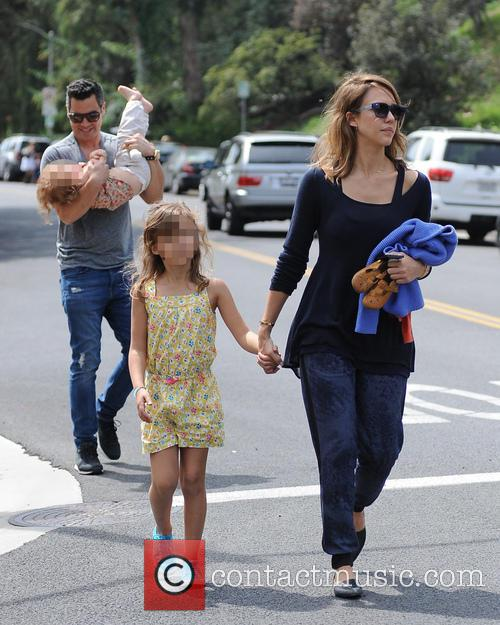 Jessica Alba, Cash Warren, Honor-Marie Warren and Haven Warren 71
