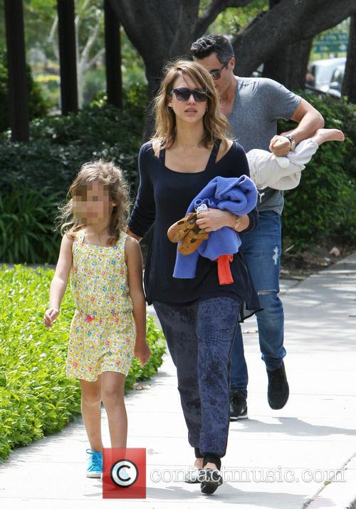 Jessica Alba and Cash Warren at Coldwater Park...