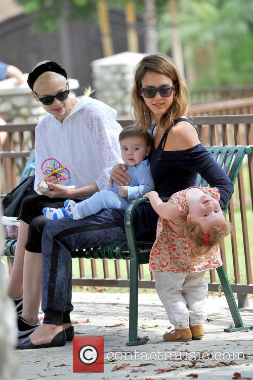 Jessica Alba, James Knight Newman, Jaime King and Haven Warren 11
