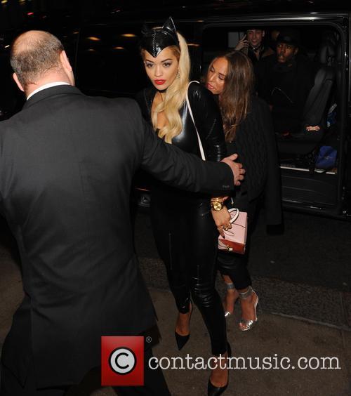 Rita Ora and friends leaving Chakana