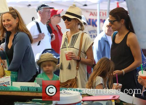 Naomi Watts at the farmers market in Brentwood