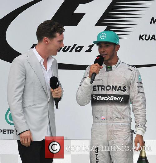 Lewis Hamilton, Benedict Cumberbatch, Sepang International Circuit
