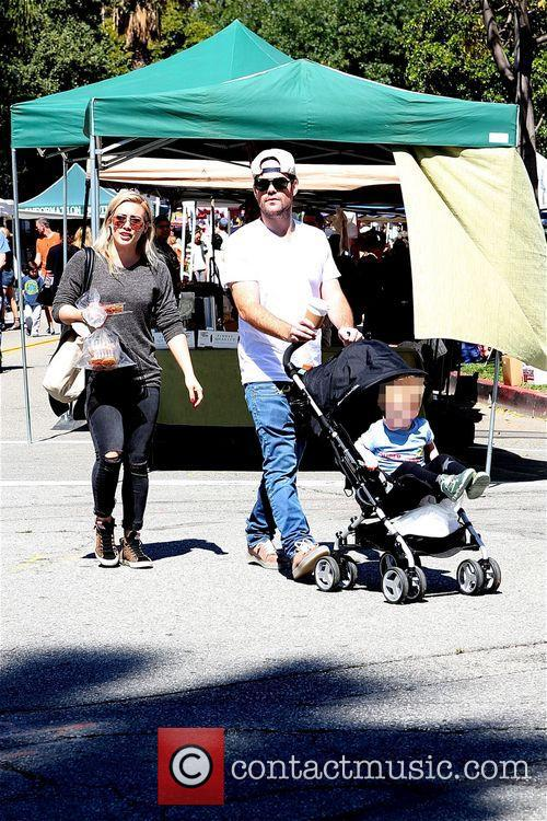 Hilary Duff, Mike Comrie and Luca 7
