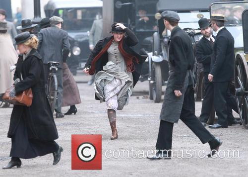Suffragette film set