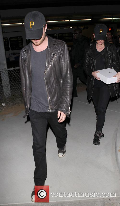 Aaron Paul and Lauren Parsekian 2