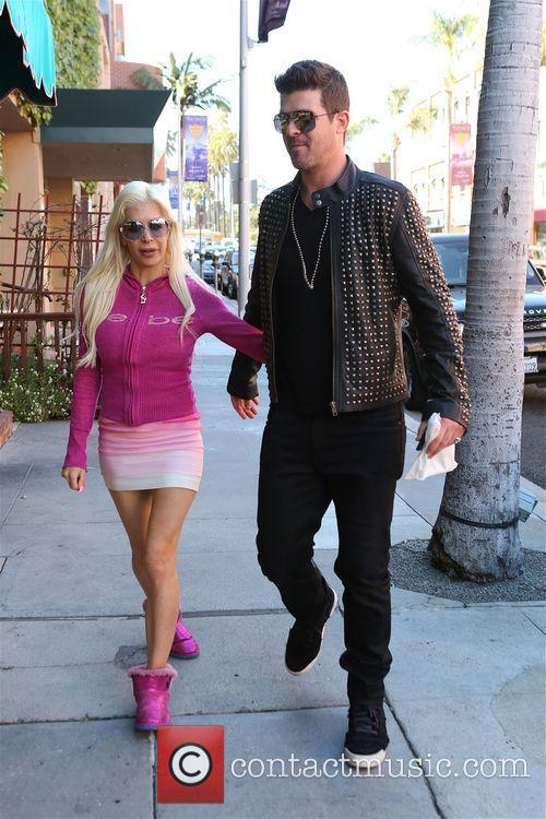 robin thicke frenchie robin thicke walking along bedford 4134225