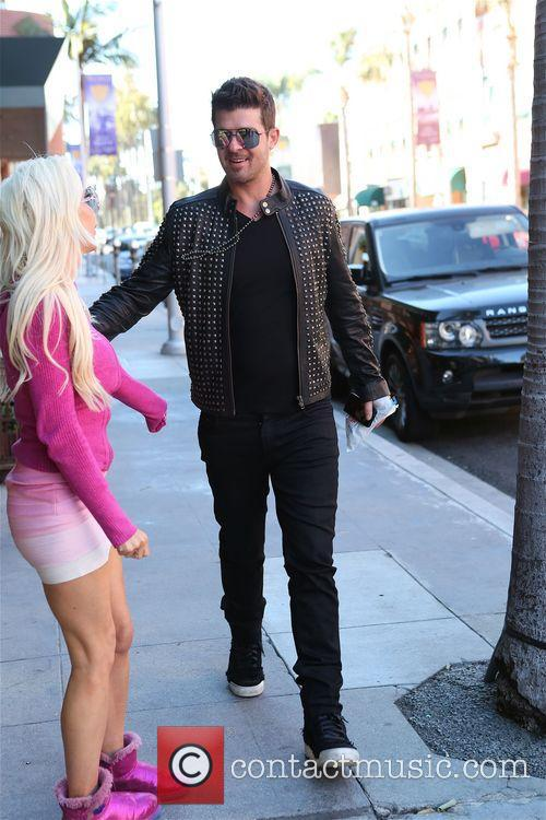 robin thicke frenchie robin thicke walking along bedford 4134232