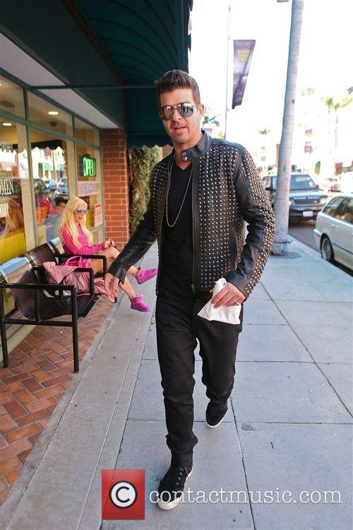 Robin Thicke and Frenchie 9