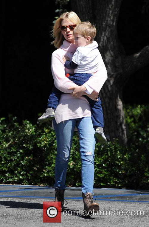 January Jones takes son Xander out to lunch