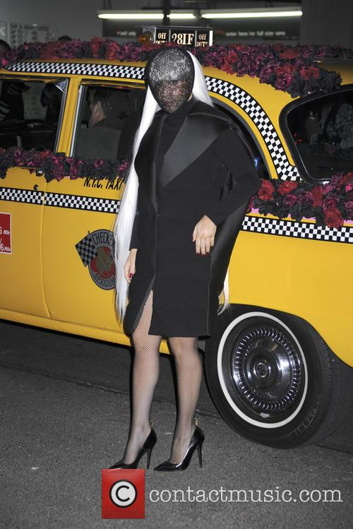 Lady Gaga arrives at Roseland Ballroom, New York