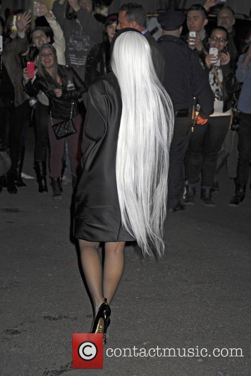 Lady Gaga arrives at Roseland Ballroom, New York