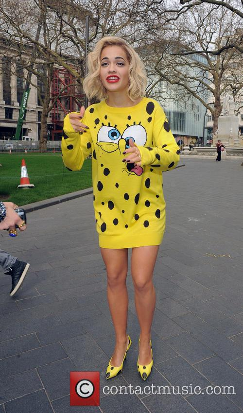Rita Ora is swamped by fans, as she...