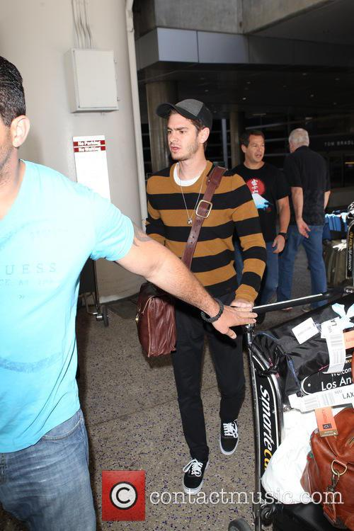 Andrew Garfield arrives back into Los Angeles International (LAX)