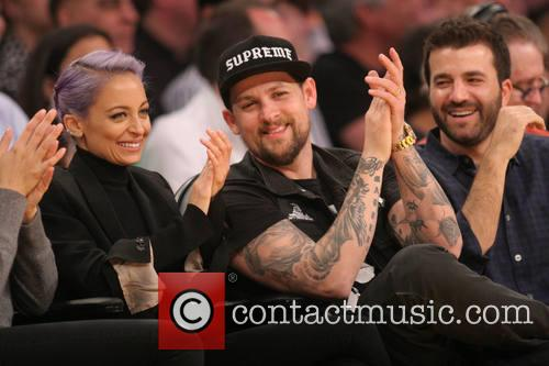 Celebrities at the Los Angeles Lakers vs Portland...