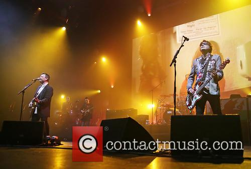 Manic Street Preachers performing live in concert
