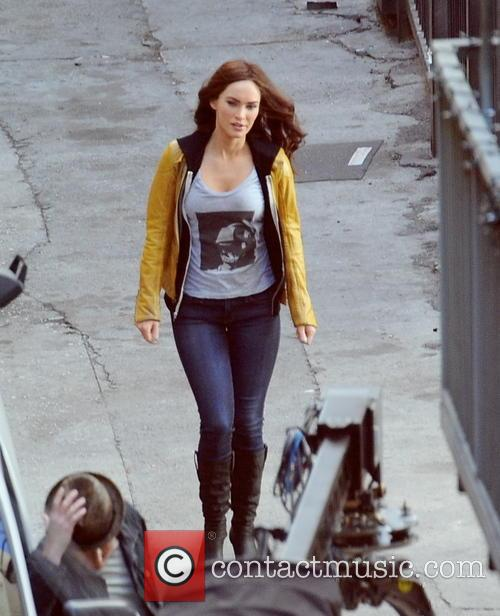 "Megan Fox filming ""Teenage Mutant Ninja Turtles"""