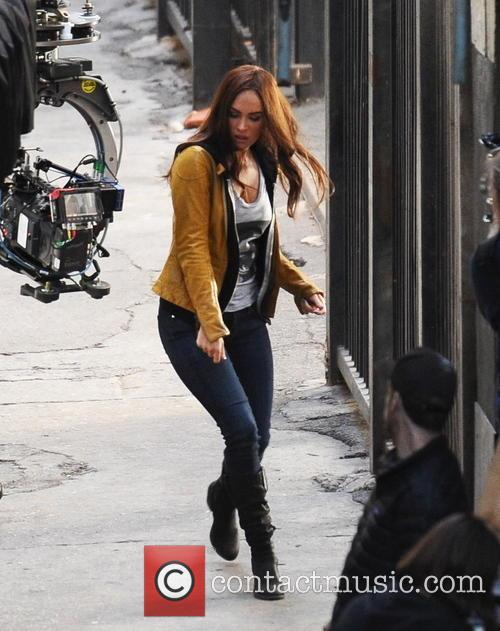 """Megan Fox filming """"Teenage Mutant Ninja Turtles"""""""