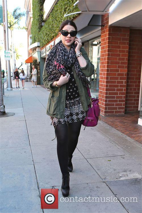 Michelle Trachtenberg out and about