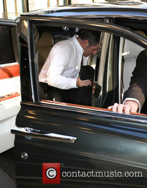 Simon Cowell leaving The Dorchester
