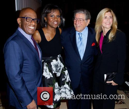 Al Roker, Deborah Roberts, Tony Bennett and Susan Crow 1