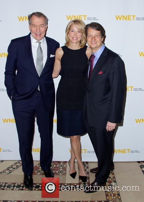Charlie Rose, Paula Zahn and Neal Shapiro 5
