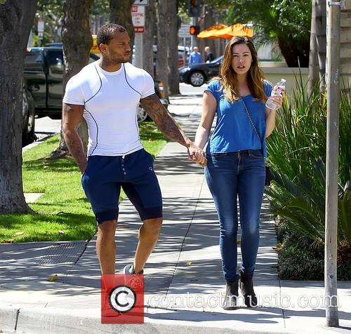 Kelly Brook in Beverly Hills with fiance