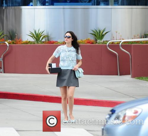 Emmy Rossum seen leaving Pacific Design Center