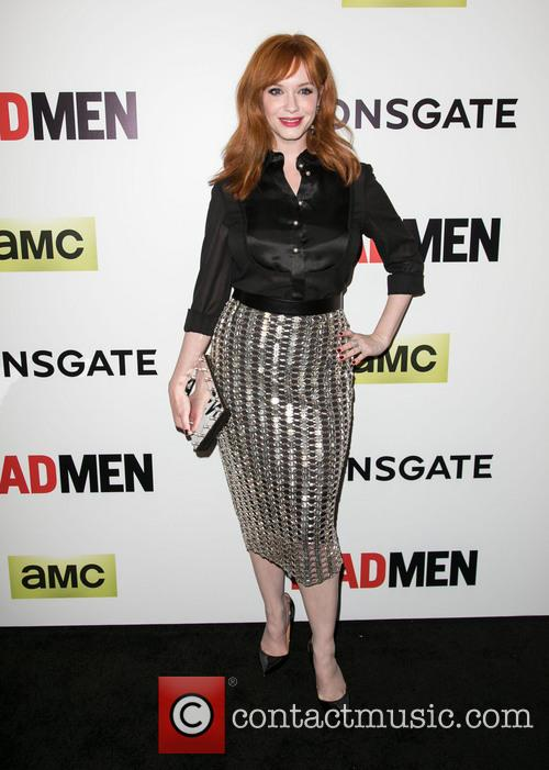 christina hendricks amc celebrates season seven premiere 4137462