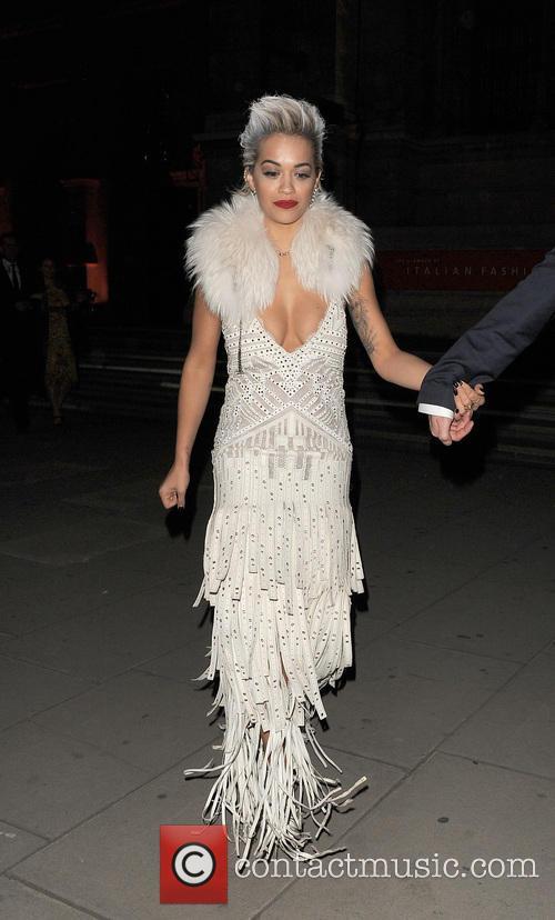 Celebrities leaving The Glamour of Italian Fashion 1945-2014...