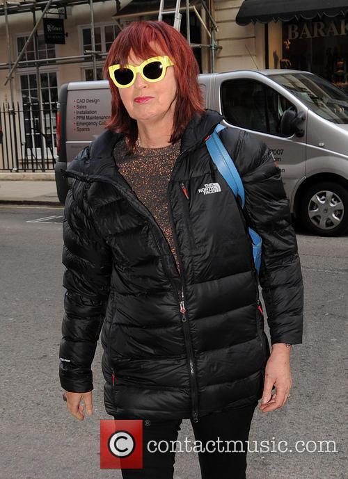 janet street porter celebrities arriving at claridges 4136088