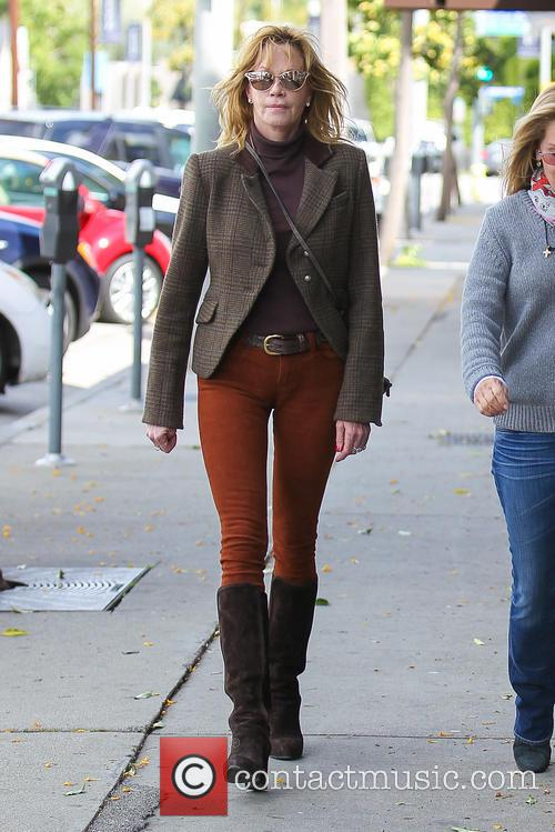 Melanie Griffith Shopping On Melrose Avenue