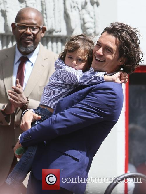 Orlando Bloom, Flynn Bloom and Forest Whitaker 6