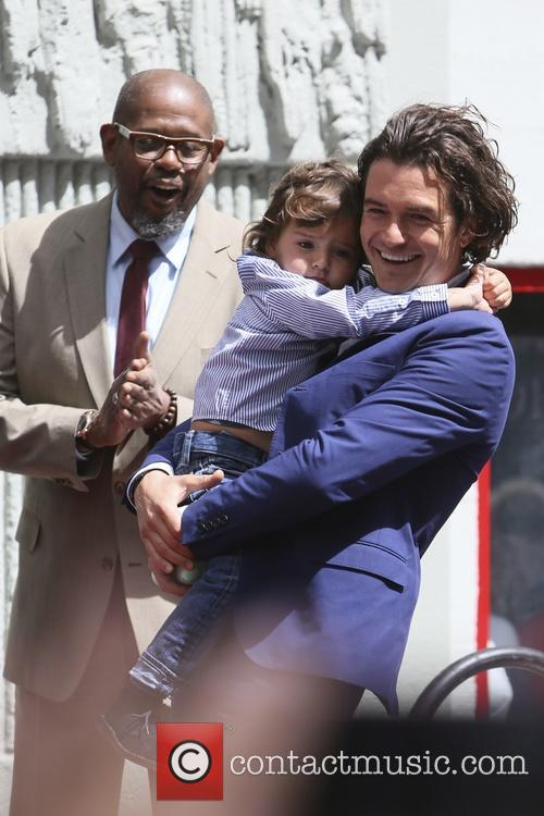 Orlando Bloom, Flynn Bloom and Forest Whitaker 7