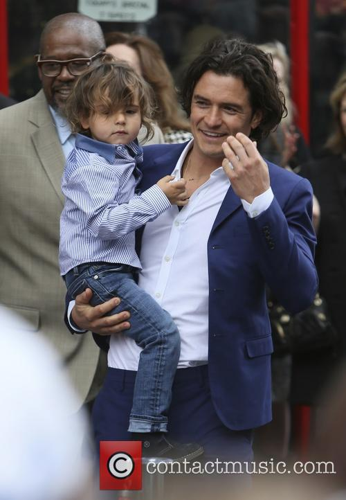 Orlando Bloom, Flynn Bloom and Forest Whitaker 8